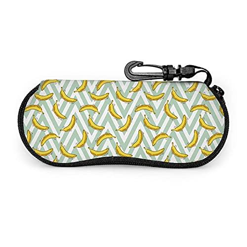 Black2 - Funda protectora unisex para gafas de sol, funda suave con cremallera de piña con clip para cinturón