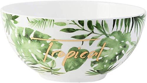 Apparence Mode Créative Fruit Bowls Vaisselle Pièces de ménage Déjeuner Bowl ronde Noodle Bowl Dessert crème glacée Bol Petit déjeuner Bol à céréales Beau bol vert en céramique Bowl usine (Couleur: Ve
