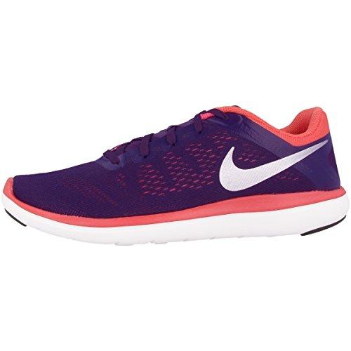 Girl's Nike Flex 2016 RN (GS) Running Shoe Purple Dynasty/Metallic Silver Size 5.5 M US