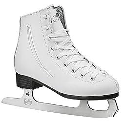 commercial Figure Skating Lake Placid Cascade for Girls, White, Size 1 girl ice skates