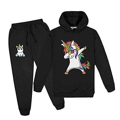 Proxiceen Sudadera con capucha para niños con estampado de unicornio. A1. 6X-Large