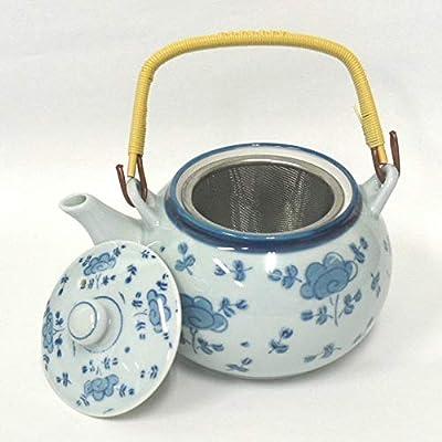 Fukuda Ceramic Théière Japonaise en céramique Kyusu- Hasami-yaki avec passoire en Acier Inoxydable (Import Japon)