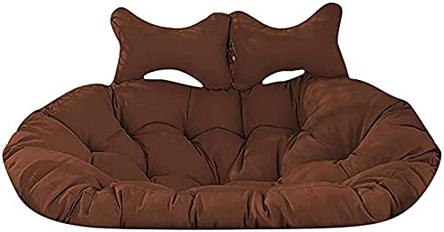Cojín colgante para silla de columpio, cojín para silla de columpio doble con almohada para la cabeza, cesta colgante Cojines para silla de huevo colgantes Cojín para silla de hamaca, cojines para si
