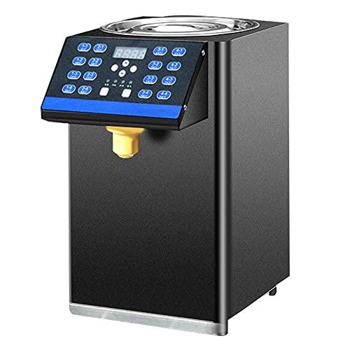 8L Dispensador De Fructosa Automático Máquina Llave De 16 Memorias Temperatura Constante Tridimensional De 360 ° Equipo Comercial De Tienda De Té con Leche 25X35X41,5 Cm