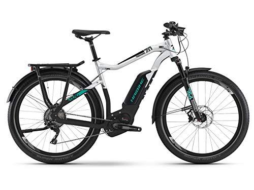 Haibike Sduro Trekking 7.0 Pedelec - Bicicleta eléctrica, color gris/negro/turquesa 2019: talla: XL