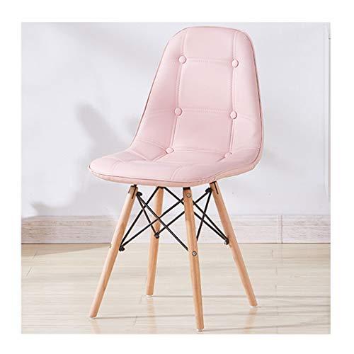 HejinXL keuken- en huisstoelen, tulip, stoelen, eetkamer, met robuuste poten van hout, leer, kussens, tuinstoelen, woonkamer D