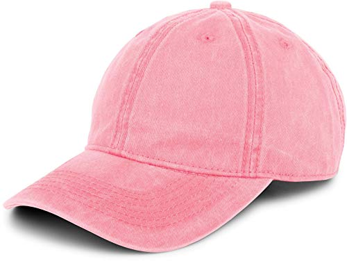 styleBREAKER 6-Panel Vintage Cap im Washed, Used Look, Baseball Cap, verstellbar, Unisex 04023054, Farbe:Rosa