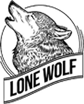 Pen Sketch Howling Wolf Husky Cartoon Art Icon Vinyl Sticker  2  Tall Lone Wolf with Moon