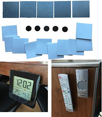 Magnet Halterungssystem Set – Metallplättchen & Magnete Selbstklebend für Fernbedienung, Bilder, Fotos, Aufhänger organisieren – Universal Halterung (Set 1-25mm)