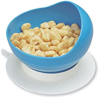 Maddak SP Ableware Scooper Bowl with Suction Cup Base, Blue