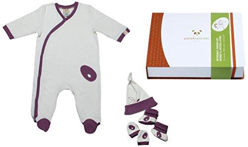 Pandi Panda 1304–008–03 Patati Patata Tapis D'éveil Pantalon avec chaussons intégrés, taille 50/56, 0–3 mois