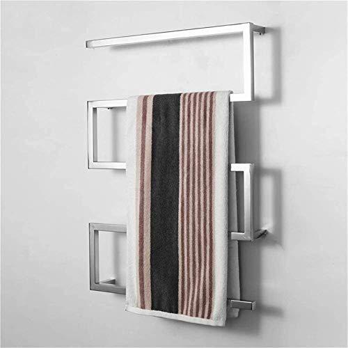 Toallero eléctrico Calentador de riel de toallas calentado Calentador eléctrico de toalla, acero inoxidable Toalla eléctrica, arco de tubo cuadrado Acero inoxidable Secado eléctrico Toallas, 900x650x1