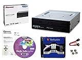 Pacchetto unità masterizzatore Blu-ray 16x Pioneer BDR-2212 con software di masterizzazione Cyberlink, BD-R M-DISC da 25 GB, cavo SATA e viti di montaggio - Masterizza dischi CD DVD BD DL BDXL
