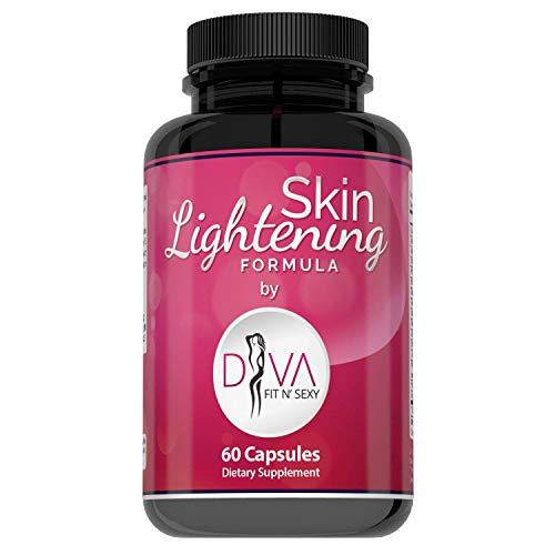 Premium Skin Lightening Formula by Diva Fit & Sexy - Whitening Pills That Work - with Glutathione and 16 Natural Active Ingredients for Vibrant and Healthy Skin - 60 Capsules