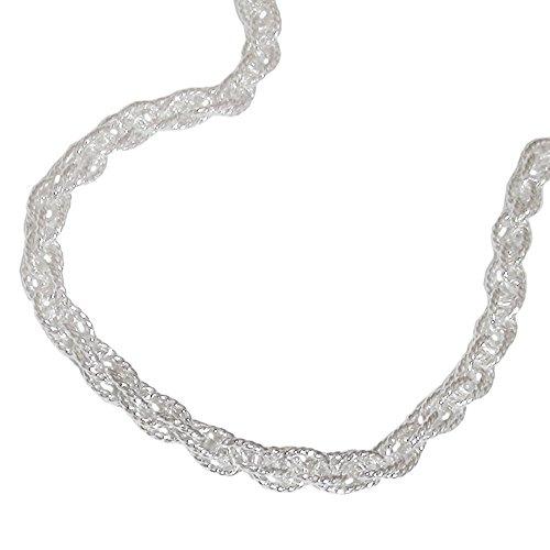 3mm Doppelankerkette Halskette Kette Collier 925 Silber 50cm Unisex