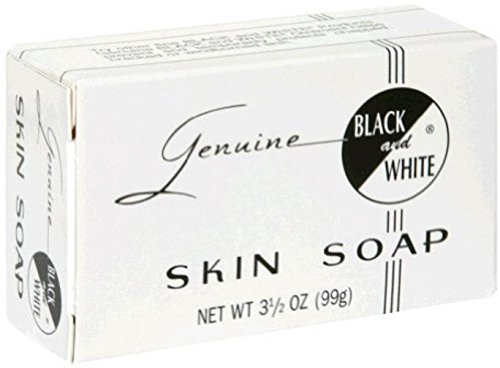 Black and White Black & White della pelle Soap Bar 3.5 oz (Confezione da 2)