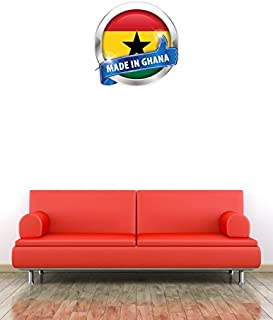 Made In Ghana Glossy Label Home Wall Decal Vinyl Sticker 22'' X 22''