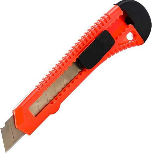Cuttermesser 30 Stück OFFICE POINT   18mm Abbrechklinge   Teppichmesser mit Wechselklinge   präzise Klingenführung   auch für Bastelarbeiten   18718-M87 (30)