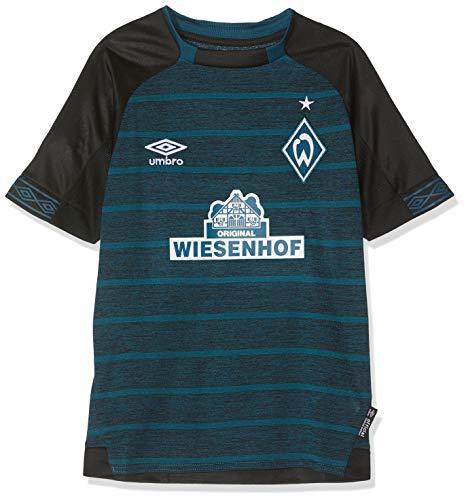 UMBRO Kinder Werder Bremen Away SS Jersey, schwarz, YXL