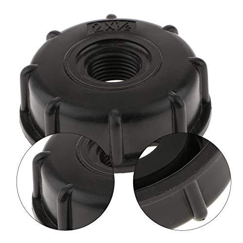 PTONZ 3PCS S60x6 Depósito IBC Tapa de Adaptador Cubierta para Tapa Tanque de Almacenamiento Roscado Plástico Contenedor de Líquidos Adaptador Manguera Jardín Rosca Interior Accesorio Agua-Negro