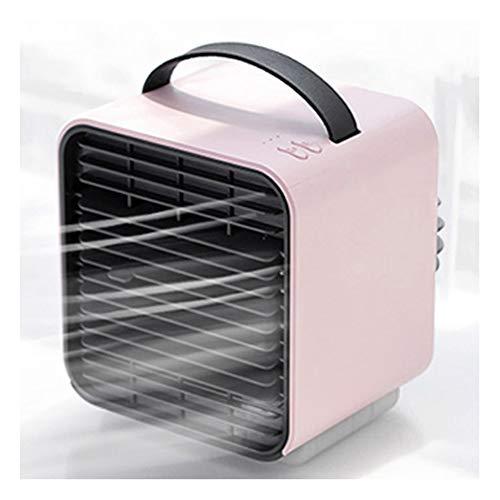 YSHCA Draagbare mobiele airco, aircooler ventilator/luchtbevochtiger 3 met snelheidsniveaus, persoonlijke airconditioning, USB-airconditioning, ideaal voor werkplek en thuis