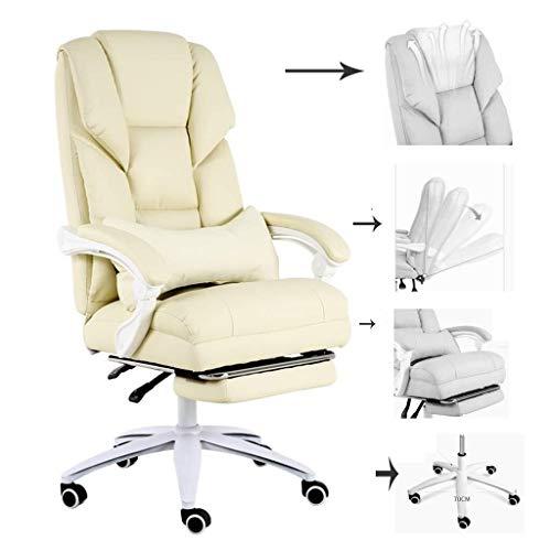 Dkee Gaming Chair. Wee Büromöbel Computer-Stühle Mädchen Comfort Gaming Stühle Schlafzimmer Spiel Stühle Schlafen Boss Stühle Swivel Sessel (Farbe: Beige (Nylon Feet), Größe: 70 * 70 * 125cm)
