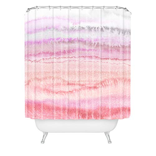 Society6 Monika Strigel Within The Tides Candy Pink Duschvorhang, Polyester, Bunt, 72