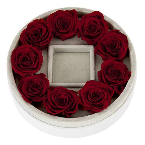 Mia Milano ® Confezione Regalo con Rose Vere e Gioielli di Alta qualità I Infinity Rose Jewellery Box (Senza Gioielli)