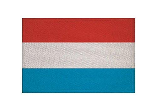 U24 Aufnäher Luxemburg Fahne Flagge Aufbügler Patch 9 x 6 cm