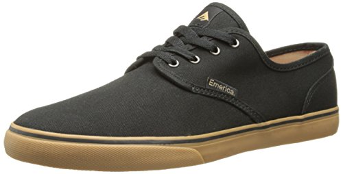 Emerica Men's Wino Cruiser Skateboard Shoe, Black/Gum, 8 M US