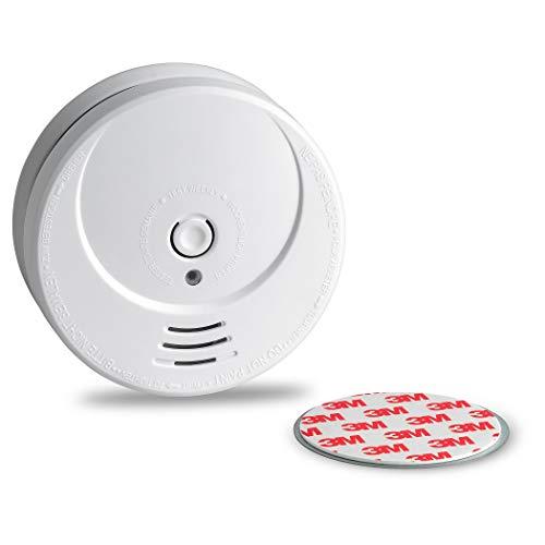 SEBSON 10 Jahres Rauchwarnmelder inkl. Magnethalterung, DIN EN 14604 Zertifiziert, fotoelektrischer Rauchmelder GS506G, Lithium Langzeit Batterie