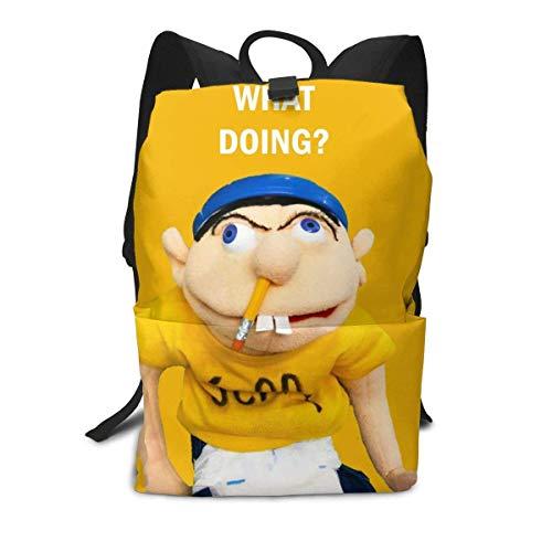 Yaxinduobao Jeffy Backpack,Bookbag 3D Printing Lightweight College School Bag for Boy Girl Youth Gift,16in
