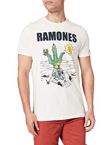 Springfield Camiseta Ramones, Marfil, XL para Hombre