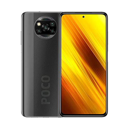 "Xiaomi Poco X3 Teléfono 6GB RAM + 64GB ROM, 6.67"" LCD Dot Display, Snapdragon 732G Octa-Core Procesado, 20MP Frontal y 64MP+13MP+2MP+2MP AI Quad Rear Camera Versión Global (Gris)"