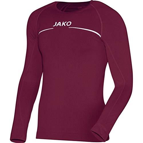 JAKO Longsleeve Comfort Kinder Langarmshirt , rot (maroon) , 140/152