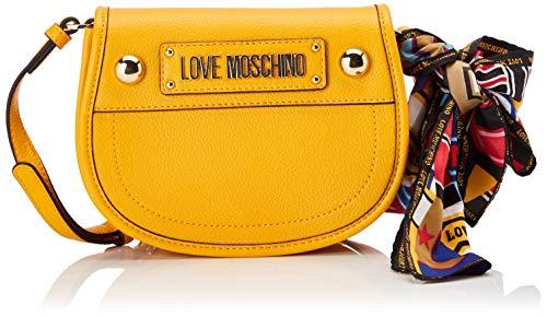 Love Moschino Grain Pu, Borsa a Mano Donna, (Giallo), 15x10x15 cm (W x H x L)