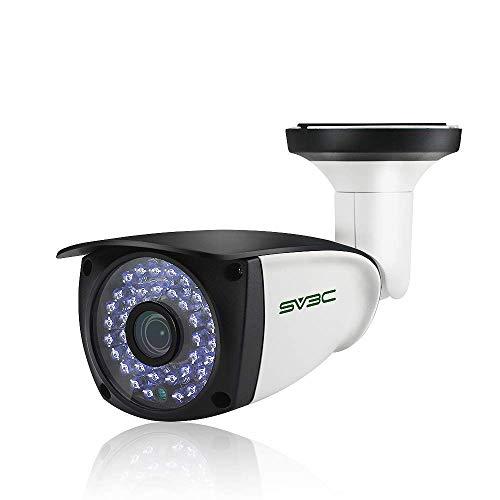 SV3C POE IP Kamera Outdoor 1080P Überwachungskamera Aussen mit Zwei-Wege-Audio, 20M Nachtsichtfunktion, IP66 wasserdicht, Eingebauter SD-Kartenschlitz, Kompatibel mit Android,IOS,Windows PC