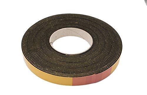 Moosgummi EPDM Dichtung 2 mm (Höhe) x 30 mm (Breite) mm schwarz Dichtband Schalldämmung Türdichtung Gummidichtung Dämpfung Fugenband selbstklebend 10 Meter