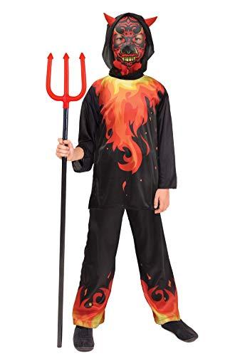 Ciao-Demone dell'Inferno costume bambino (Taglia 8-10 anni), Multicolore, 13048.8-10