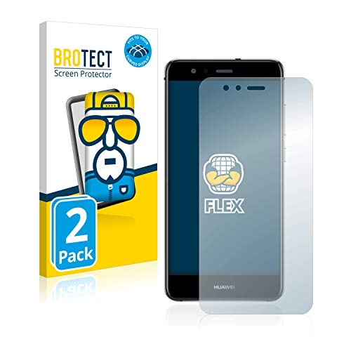 brotect Pellicola Copertura Completa Compatibile con Huawei P10 Lite (2 Pezzi) Full-Cover 3D Curvo