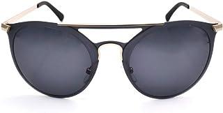 ام اي سي نظارة شمسية نمط دائري مستقطبة لون اسود مطفي للنساء MS7077C2