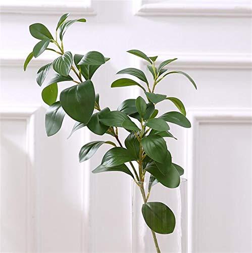 SJHQ Ewige Rosen 3D drucken echte Touch ficus Baum verzweigungen künstliche blätter Faux laub Dekoration gefälschte Blume plantas artificiais grünes Blatt Kunstblumen (Color : 1 Piece)
