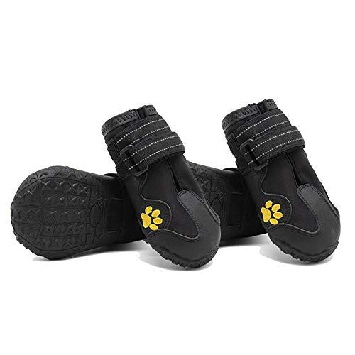 Beste Dagboek Winkel Waterdichte Hond Schoenen Voor Honden Winter Zomer Regen Sneeuw Hond Laarzen Sneakers Schoenen Voor Grote Honden Husky Outdoor, Size 5, Zwart