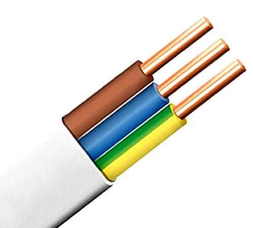 Flach Feuchtraumkabel Leitung Installationsleitung YDY NYM-J 3x2,5 mm² (10m) 1,31€/m
