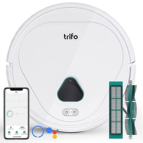 Trifo Saugroboter, 3000Pa Saugleistung, 120min Laufzeit, App/Alexa Steuerung, Intelligente Navigation, WiFi Saugroboter mit Ladestation, Gute Reinigung für Böden, Teppiche und Tierhaare