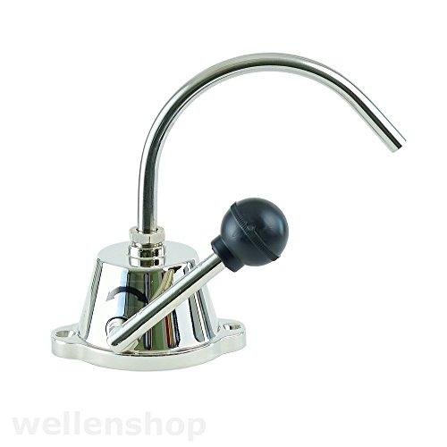 wellenshop Wasserhahn mit Handpumpe ohne Strom 3/8 Zoll 10mm Anschluss selbstansaugend