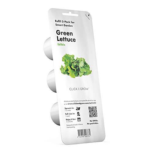 CLICK & GROW Lot de 3 Recharges CLICK GROW pour Smart Garden LAITUE VERTE