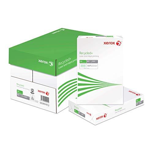 Xerox Recycled+ 003R91912 - Carta riciclata per fotocopiatrice, 80 g/m², formato A4, 5 x 500 fogli
