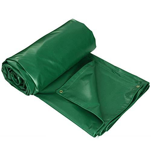 ANHPI-tarpaulin Bâches De Protection Étanche à La Poussière Extérieure Couverture De Marchandises De Camion D'ombre Tissu De Pluie Anti-oxydation,Épaisseur 0.4mm,400 G/M²,10 Taille,Green-3x3M