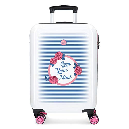 Roll Road Rose Valise Trolley Cabine Rose 37x55x20 cms...